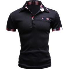 ... Style à manches courtes Polo Homme Casual Mens Solid Polo marques Logo  coton de qualité supérieure , Plus la taille dans Polo de Hommes de  Vêtements et ... 18e37a95052