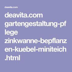 deavita.com gartengestaltung-pflege zinkwanne-bepflanzen-kuebel-miniteich.html
