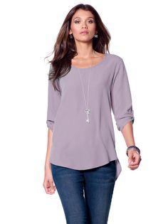 Blusa camisa mujer manga 3/4 asimétrica Esta femenina blusa te dará mucho juego permitiéndote vivir la moda a tu aire, de la manera más cómoda y elegante.