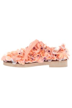 Anouki SS15 shoes flats peach Peach Canvas Embellished Brogues