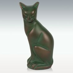Emerald Cat Cremation Urn