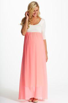 Mocha maternity maxi dress