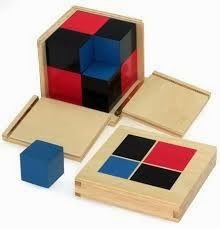 Montessori Materials Binomial Cube Helps the Child Learn Binomial Equations (a+b)--math Montessori Trays, Montessori Education, Montessori Materials, Montessori Activities, Homeschool Math, Preschool Learning, Arty Toys, Wooden Cubes, Home Study