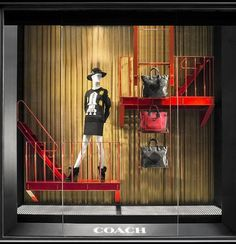 "COACH New York,""Keep fire exits and escape routes clearly marked and unobstructed at all times"", pinned by Ton van der Veer"