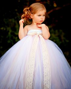 Vintage Daydream Flower Girl Tutu Dress by TheLittlePeaBoutique, $118.00