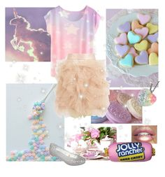 """Unicorn"" by dory-speaks-whale ❤ liked on Polyvore featuring Lime Crime, Eileen Kirby and Melissa"