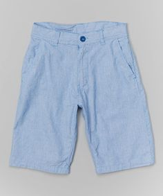 Look at this #zulilyfind! Light Blue Denim Shorts - Boys by American Hawk #zulilyfinds