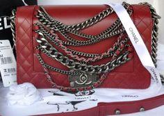 7b63d5807b32 CN0085 Chanel LeBoy Flap Shoulder Bag in Original Leather A67918 Jujube Red  Welcome, Shoulder Bag
