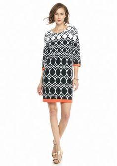 d1c63b4af262 Crown   Ivy™ Petite Contrast Trim Ponte Dress