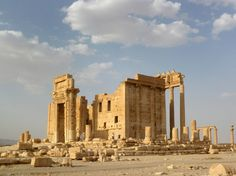 So sah der Baaltempel im August 2010 aus, vor Beginn des Bürgerkriegs in Syrien.