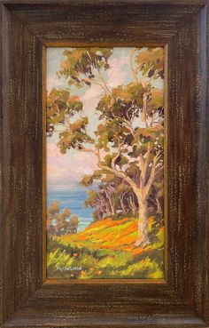 This original oil was painted on linen canvas and is framed and ready to hang. I really love to paint Eucalyptus trees because they have so much individual character. Jim@JimMcConlogue.com Eucalyptus Tree, California Poppy, La Jolla, Frame Shop, Art Oil, Impressionist, Landscape Paintings, Poppies, Trees