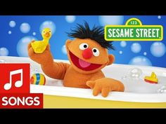 Sesame Street: Ernie and his Rubber Duckie -- Music for a silly mood. When I was little, my brother had this song on an album of novelty songs. I would borrow it from him. Toddler Videos, Kids Videos, Fun Songs For Kids, Sesame Street Books, Circle Time Songs, One Hit Wonder, Jim Henson, Kids Corner, Fiestas