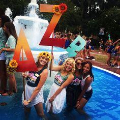 Delta Zeta at Florida State University #DeltaZeta #DZ #BidDay #letters #sorority #FSU