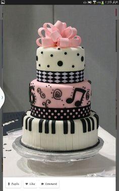 Pretty Image of Sweet 16 Birthday Cake . Sweet 16 Birthday Cake Sweet 16 Cakes Decoration Ideas Little Birthday Cakes Gorgeous Cakes, Pretty Cakes, Cute Cakes, Amazing Cakes, Piano Cakes, Music Cakes, Music Themed Cakes, Fondant Cakes, Cupcake Cakes