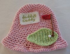 Crochet Fathers Day Gift Childrens Golf Hat Baby Golf Hat Gift for dad 100% USA Grown Cotton Newborn/3 Years