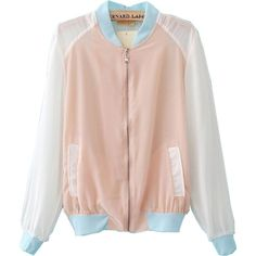 BABY SEE-THRU JACKET ($20) ❤ liked on Polyvore featuring clothing - outerwear, jackets and pastel