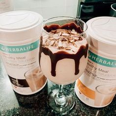 Banana Split Shake With // Want to learn how to make a delicious Herbalife shake? Here is one of my favorite Herbalife recipes to make for a Herbalife protein shake. These are Herbalife recipes for weight loss and Herbalife recipes for meals. Protein Cupcakes, Protein Desserts, Protein Brownies, Protein Snacks, Protein Cookies, Protein Muffins, Protein Dinner, Protein Shake Recipes, Smoothie Recipes