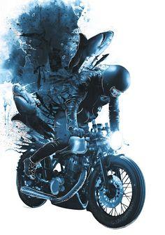 Pınararabacı #illustration #design #motorcycles #motos | caferacerpasion.com