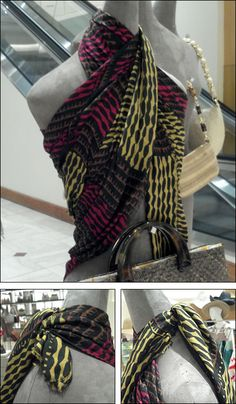 The premier design houses are amazingly versatile when it comes to Visual Merchandising scarves. Burberry adds its own approach to… Accessories Display, Women Accessories, Scarf Display, Scarf Knots, Burberry Scarf, Premier Designs, Work Inspiration, Visual Merchandising, Plaid Scarf