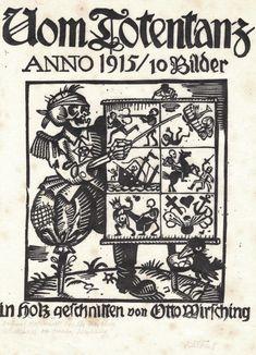 The Death-Dance Anno (Vom Totentanz Anno) by Otto Wirsching (Germany, 1915)