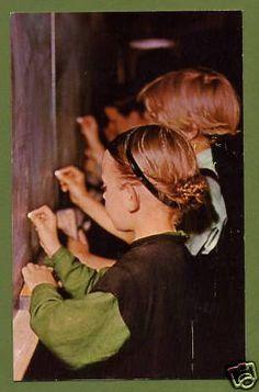 Amish children at a chalkboard Pennsylvania PA