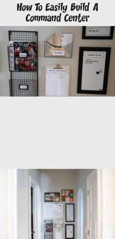 How to increase organization by building a quick and inexpensive command center. City Apartment Decor, Dry Erase Calendar, Family Organizer, Dry Erase Board, Black Decor, Decor Styles, House Design, Organization, Building