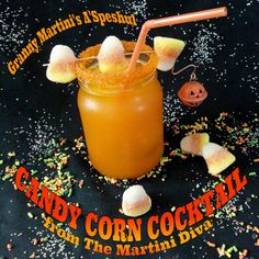 CANDY CORN COCKTAIL & MOONSHINE RECIPES. Click image for recipes.