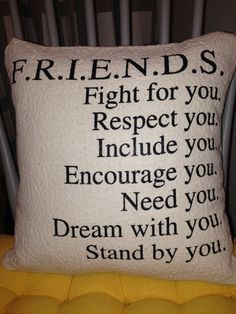 FRIENDS  Best Friend  Pillow Cover by VintageAffairStudio on Etsy