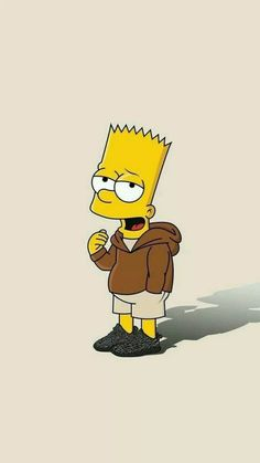 Bart Simpson New Horizons Simpson Wallpaper Iphone, Sad Wallpaper, Cute Disney Wallpaper, Cute Cartoon Wallpapers, Wallpaper Iphone Cute, Phone Wallpapers, Simpsons Drawings, Simpsons Art, Hypebeast Wallpaper
