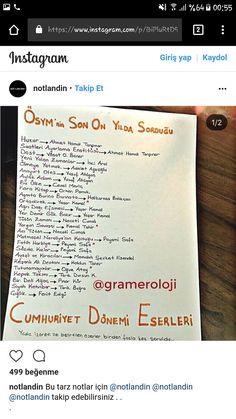Turkish Language, School Notes, 2 Instagram, Self Care Routine, Study Notes, Study Motivation, Adolescence, Literature, Bullet Journal