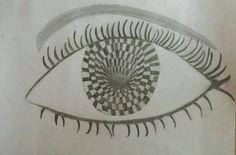 Dit is mijn eind ontwerp. Ik heb de wimpers helemaal afgemaakt en heb de wenkbrauw in gekleurd. Ik heb de make- up (eyeliner) zwarter gemaakt en ik heb de vakjes in het midden van het oog zwarter gemaakt. Ik heb ook nog als laat de lijnen strakker gemaakt en ik heb bij het vorm van het oog nog gearceerd.