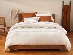 300 Thread Count Organic Percale Sheets   Coyuchi Percale Sheets, Bed Sheets, Organic Duvet Covers, Full Duvet Cover, Bedroom Paint Colors, Linen Duvet, Cool Beds, Down Pillows, Cozy House