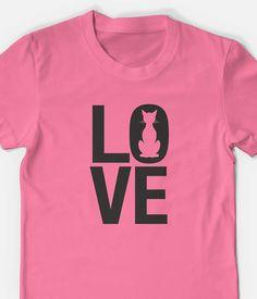 Cat Love t shirt unisex men's women's tee shirt for cat by TeeRiot, $11.95 #tshirt #tee #catshirt #catlover #cattshirt