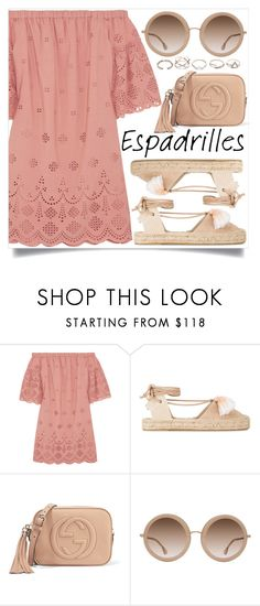 """""""Step into Summer: Espadrilles"""" by lovesickwildbeast ❤ liked on Polyvore featuring Madewell, Soludos, Gucci, Alice + Olivia and GUESS"""