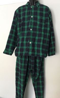 NEW 2PC Pottery Barn Teen Brad Plaid Flannel Pajama Set LARGE