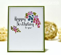 Iwona Palamountain for WPlus9 featuring Strictly Sentiments 5 & Fresh Cut Containers Clear Stamps.