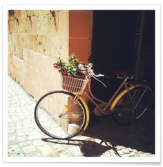 Yellow Bicycle Art Print by Cassia Beck now on Juniqe.com | Art. Everywhere.