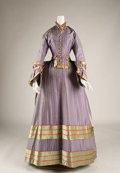 Date: 1872–75 Culture: probably British Medium: silk Dimensions: Length at CB (a): 43 1/2 in. (110.5 cm) Length at CB (b): 48 1/2 in. (123.2 cm) Credit Line: Purchase, Irene Lewisohn Bequest, 1986