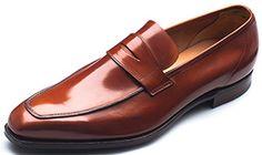 G.J. Cleverley George tan burnished calf men's shoe.