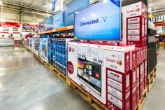 Costco Wholesale can be a great option for your next TV. Here's what you need to know about the extended warranty on Costco TVs, the return policy and more. Costco Store, Costco Shopping, Shopping Tips, Costco Prices, Iphone Codes, Warehouse Club, Costco Membership, Clark Howard, Usa