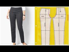 How to Cut Perfect Female Trousers/ Pants (Easy) Tunic Sewing Patterns, Sewing Blouses, Doll Dress Patterns, Dress Making Patterns, Clothing Patterns, Shirt Patterns, Trouser Pants, Trousers Women, Pants For Women