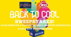Jansport - WSS Sweepstakes! Win a $250 Shopping Spree! FOUR... IFTTT reddit giveaways freebies contests