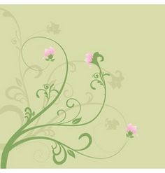 Spring floral vector image on VectorStock Free Vector Clipart, Free Vector Images, Swirls, Background Images, Paper Crafts, Clip Art, Backgrounds, Spring