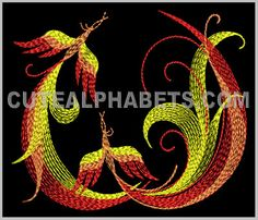This free embroidery design from Cute Embroidery is the letter W.