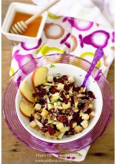 http://www.nellacucinadiely.com/2017/03/01/insalata-variopinta-di-radicchio-e-speck/  Colorful salad of radicchio and speck