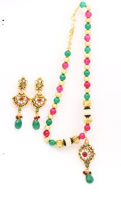 stone pendant ,stone jewelry ,stone pendant ,stone earrings ,kundan jewellery ,kundan necklace ,stone necklace ,Kundan Pendant. j63