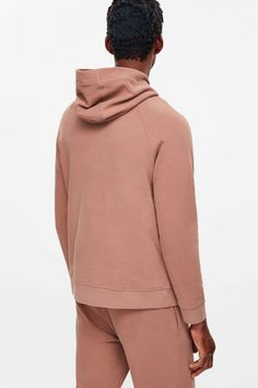 COS image 3 of Hooded sweatshirt in Terracotta
