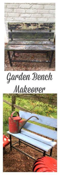 Garden Bench Makeover. http://www.Gardenchick.com
