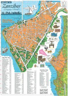 stone town zanzibar map - Google Search