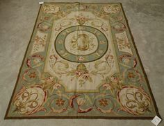 This is a beautiful needlepoint rug, French Aubusson country design.The piece is using of fine New Zealand wool hand-woven on cotton canvas. The wool material featured with excellent stain resistance and strong enough for life time of enjoyment. | eBay!